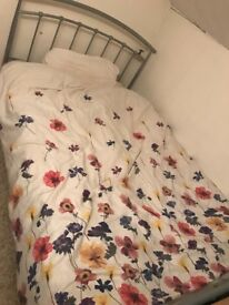 Queen sized 3/4 bed and mattress