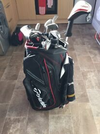 Golf clubs,bag and trolley