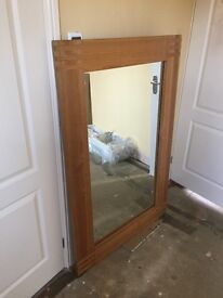 Large Oak dresser with large mirror, 3 drawers great condition.
