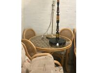 Daro Bistro Dining Table circle with 4 confortable chair