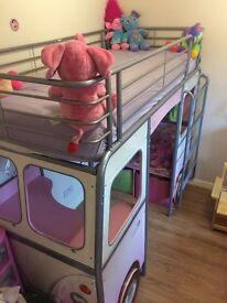 Pink De Van Cabin Single Bed