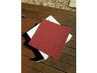 Brand new red/burgundy carpet tiles