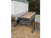 9x1- 13ft scaffold boards in used condition.