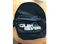 QUICKSILVER BACKPACK BLACK BAG SCHOOL COLLEGE