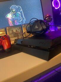 PS4 - FULL SETUP (TURTLE BEACH HEADPHONES / 9X GAMES / 2 CONTROLLERS)