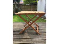 Fold up wooden table