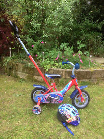Kids Spiderman Bicycle with helmet