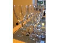 6 Wine Glasses + 4 Glass Water Tumblers