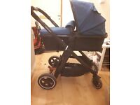 Mothercare journey pram teal pushchair and carseat