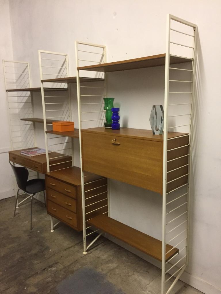 Vintage Ladderax shelving retro