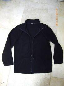 Boys Black Fleece Jacket 11 Years (TU, SAINSBURYS)