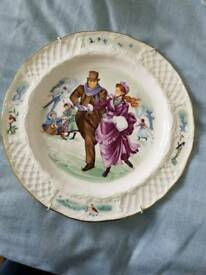 Royal Worcester- Winter in the country 1983