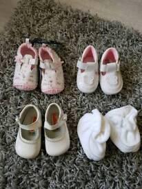 Girls soft pram shoes size 0