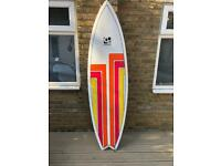 """Cortez 6ft6 Fish Surfboard with bag, wax etc - 6'6"""""""