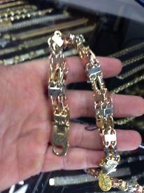 Tri colour heavy bracelet