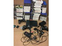Playstation 2 bundle, 75 games, console, 3 controller, 3 memory cards, etc. etc. joblot. bargain -