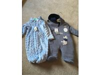 2x baby boy snow suits for sale, brand new with labels