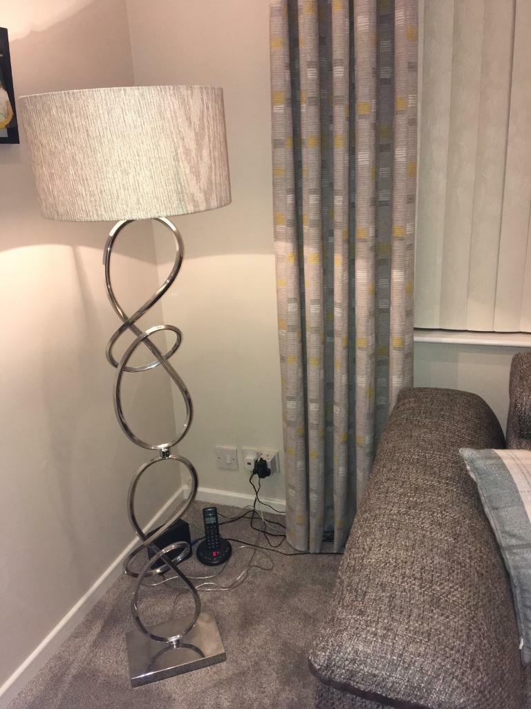 Polished chrome floor lamp for sale