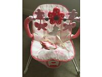 Pink fisherprice baby bouncer