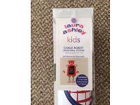 Laura Ashley Kids Chalk Robot Wall Sticker - NEW - £15 ovno