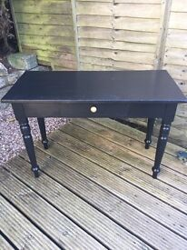Black revamped Table/Console Table