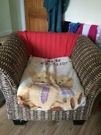 2 x Over sized rattan arm chairs