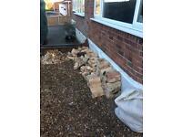 Free rubble, bricks