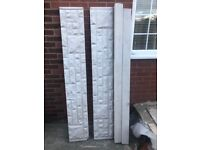 2no concrete 6ft fence posts and 2 conrete gravel boards, some chips to various parts as per photos