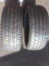 2 x Pirelli p zero 245-45-20 tyres ( brand new)