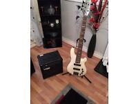 Harley Benton 5 string active bass and Laney Amp