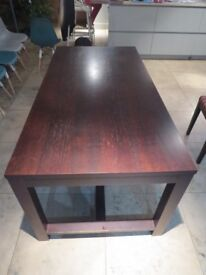 Habitat Walnut dark timber Dining Table and Chairs