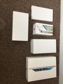 Apple, empty boxes