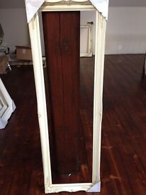 """Ivory Wooden Picture/Mirror Frame 12"""" x 45"""""""