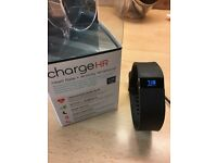 FITBIT CHARGE HR FITNESS TRACKER IN BLACK SIZE LARGE HARDLY USED.. too lazy!!!!