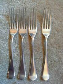 """4 little forks """"silval"""" stainless nikel silver B"""