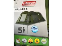 Brand new Coleman Galileo 5, 5 person tent with tags