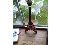 Quincy flying V model guitar in great condition £100 or near price