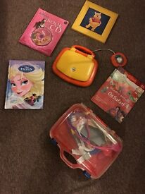 Vtech activity computer with activity book, doctor kit + books+ a frame