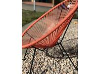 Coral garden egg string chairs