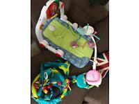 Baby's Play-seat, cot mobile, Door Bouncer