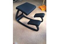 Variable Balans Original Kneeling Chair all black.
