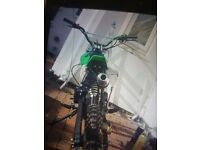 White black and green pit bike cc. Runs great excellent condition. Selling due to it being to small
