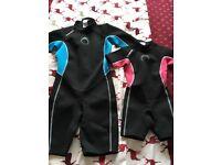 X2 children's wetsuits