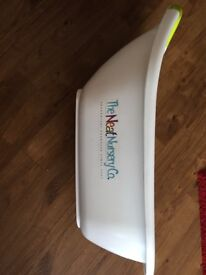 """White delux baby bath by """"The Neat Nursery Co"""""""