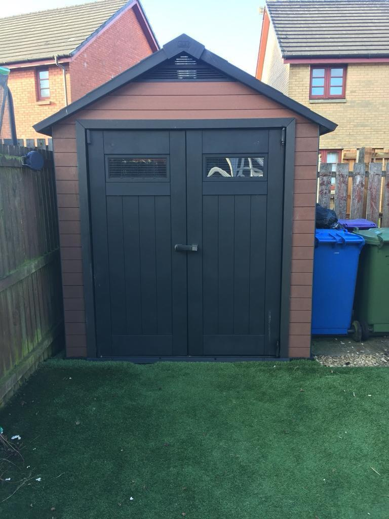 Keter Fusion Plastic Wood Composite Garden Shed In