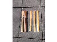 Vintage wooden carpet strips
