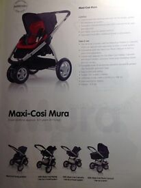 Maxi-Cosi Mura Travel System (Birth - approx 3.5 years / 0-15kg)