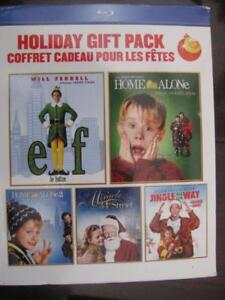 Christmas Classics DVD Blu Ray Box Set: Home Alone 1 and 2 / ELF / Jingle All the Way / Miracle on 34th Street. Movie