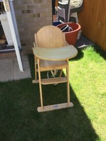 Baby Weavers Wooden High Chair