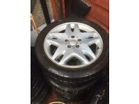 "4x Mercedes Benz 17"" Alloy wheels. Classic. S class, E class, C class"